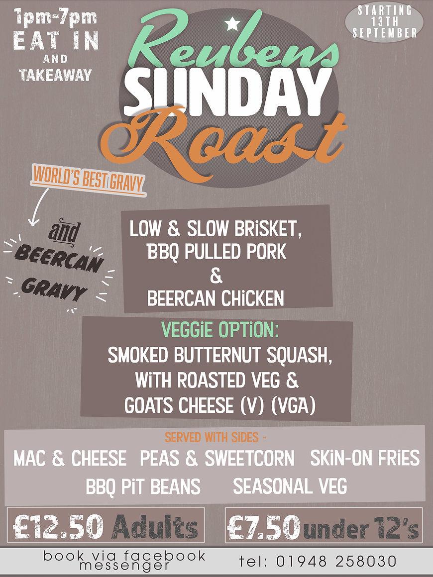 sunday roast takeaway WHITCHURCH startin