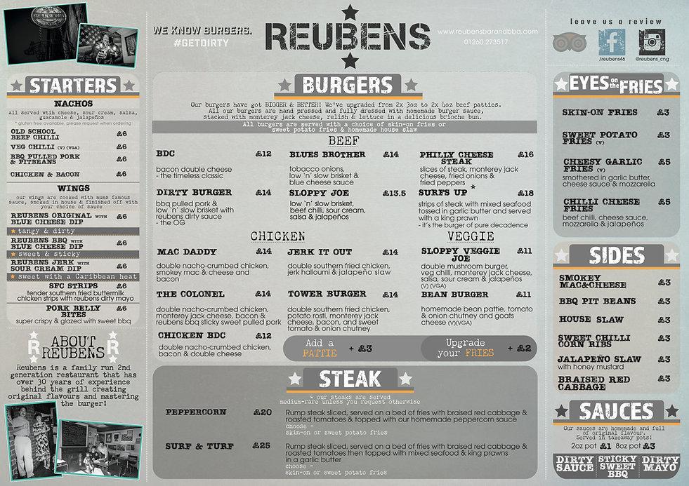 REUBENS place mat menu 2020 21st Decembe