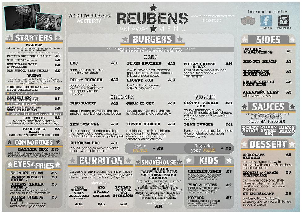 REUBENS place mat menu 2020-21 December
