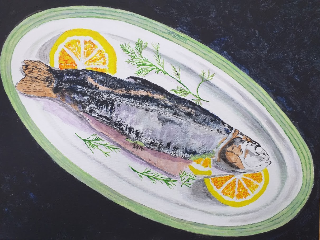 trout with lemon vaugh hunt