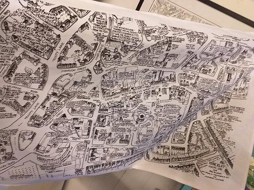 Hinckley Map Tea Towel