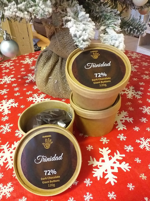 120g tube of giant dark chocolate buttons