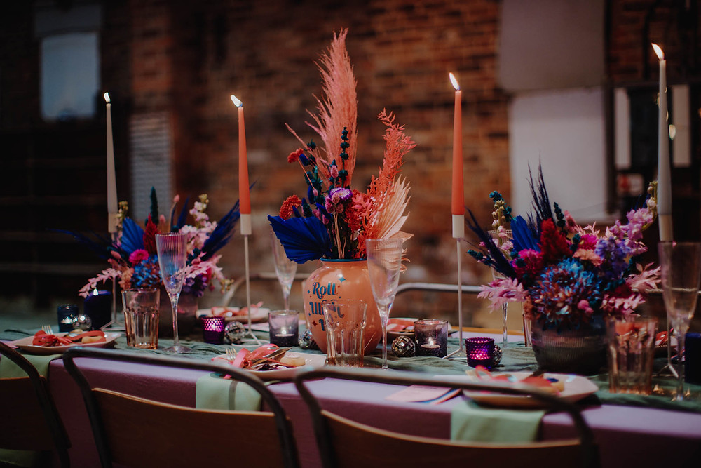 Colourful Industrial Warehouse Wedding Inspiration