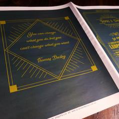 Peaky Blinders themed Wedding + Civil Partnership Order of Service Newspaper   Alternative Wedding Stationery Newspapers