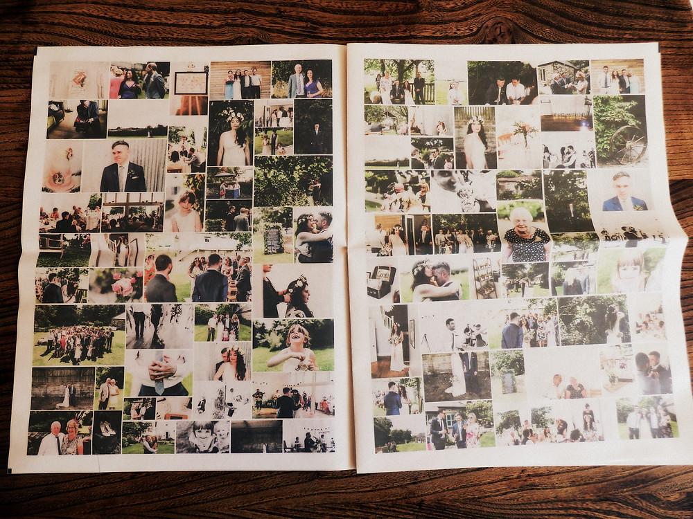 Wedding Photo Newspaper card alternative
