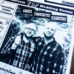 Civil Partnership + Wedding Order of Service Newspaper