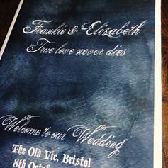 Gothic Wedding order of service
