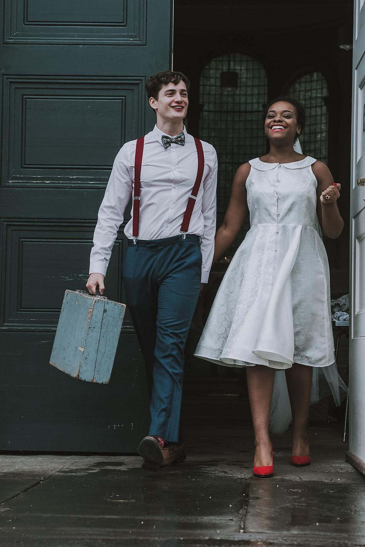 Just married elopement wedding photo inspiration