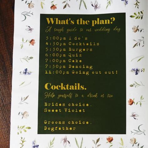Spring, pub themed Wedding + Civil Partnership Newspaper | Alternative Wedding Stationery Newspapers