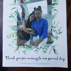 Green leaf Wedding Order of Service Newspaper | Alternative Wedding Stationery Newspapers