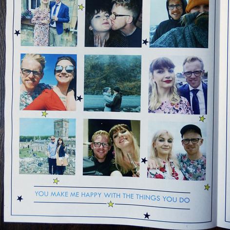 Festival themed Wedding/Civil Partnership Order of Service Newspaper | Alternative Wedding Stationery Newspapers