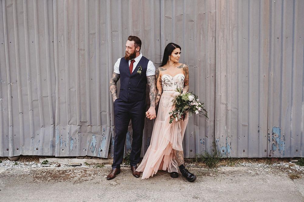 Elopment Tattoo Industrial Warehouse Wedding Inspiration