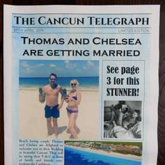 Destination Wedding or Civil Partnership Order of Service   Alternative Wedding Stationery Newspapers