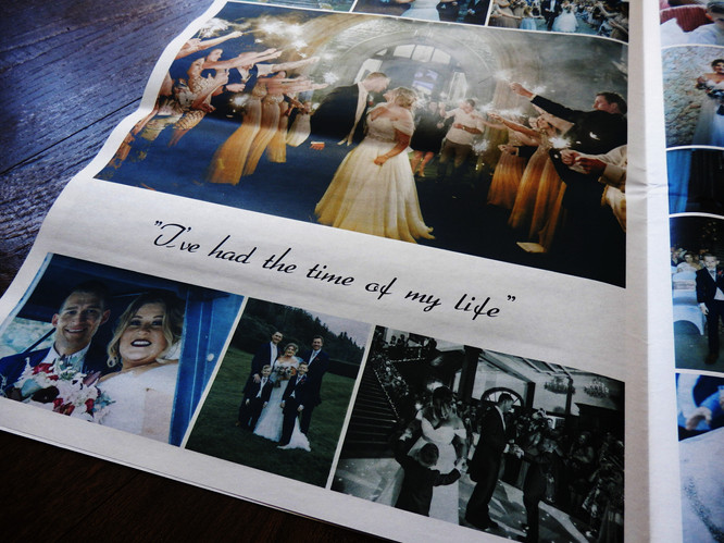 Wedding Photograph Thank You Newspaper