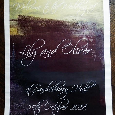 Gothic themed Wedding Order of Service Newspaper