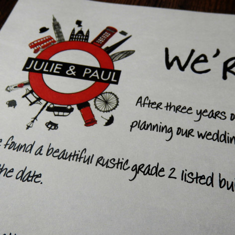 London themed Wedding Invite Newspaper | Alternative Wedding Stationery Newspapers