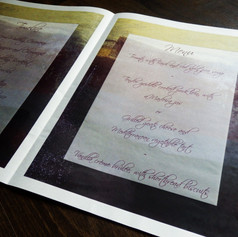 Gothic themed Wedding Order of Service Newspaper | Alternative Wedding Stationery Newspapers