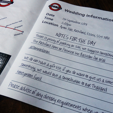London themed Wedding Invite Newspaper