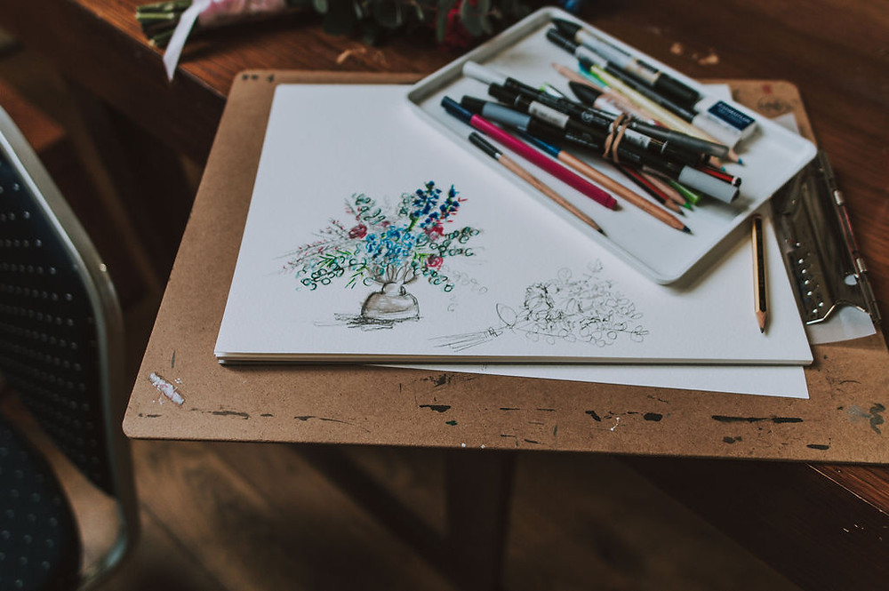On the day wedding drawing inspiration