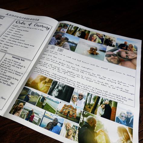 Wedding Order of Service Newspaper | Alternative Wedding Stationery Newspapers