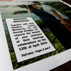 Wedding Newspaper Invitation   Alternative Wedding Stationery Newspapers