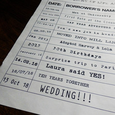 Library themed Wedding/Civil Partnership Order of Service Newspaper | Alternative Wedding Stationery Newspapers