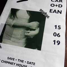Modern, Monochrome Save the Date Newspaper | Alternative Wedding Stationery Newspapers