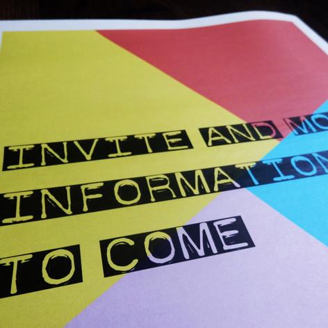Colour block Wedding or Civil Partnership Save the Date Newspaper