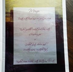 Gothic themed Wedding Order of Service Newspaper | Alternative Wedding Stationery Newspapers