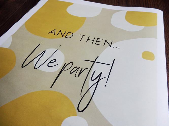Mustard and kraft Wedding + Civil Pafrtnership Invite Newspaper