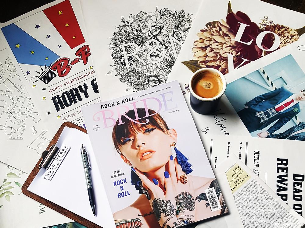 Photo Press Wedding Newspapers as seen in Rock 'N' Roll Bride Magazine