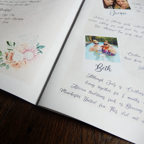 Destination Wedding + Civil Partnership Order of Service | Alternative Wedding Stationery Newspapers