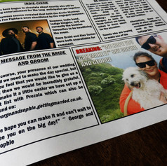 Wedding Newspaper | Alternative Wedding Stationery Newspapers