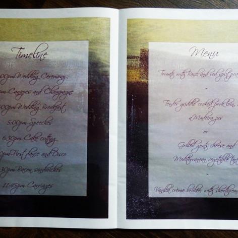 Gothic Wedding + Civil Partnership Newspaper | Alternative Wedding Stationery Newspapers