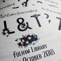 Library themed Wedding/Civil Partnership Order of Service Newspaper | Alternative Wedding Stationery Newspapers