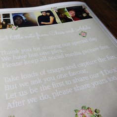 Pink flower Wedding Order of Service Newspaper | Alternative Wedding Stationery Newspapers