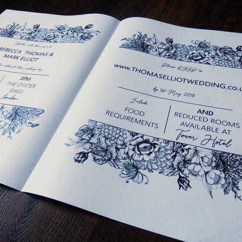 Wedding + Civil Partnership Invite Newspaper | Alternative Wedding Stationery Newspapers