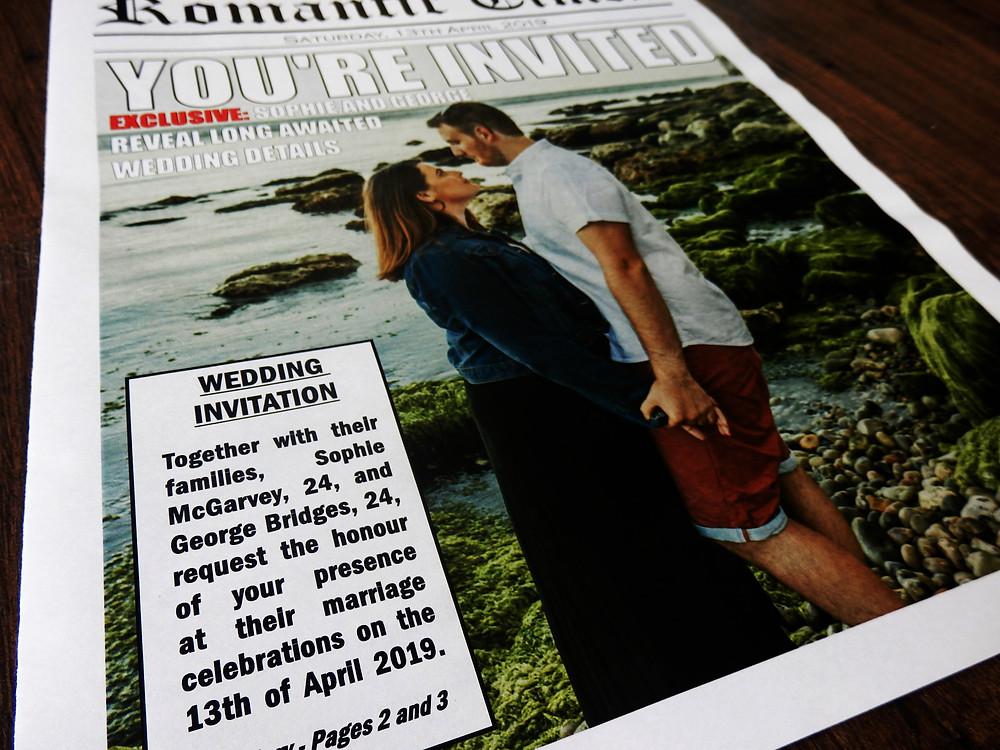 Wedding Newspaper Invitation