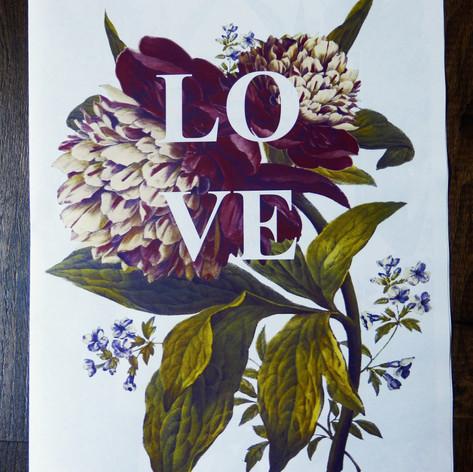 Vintage flowers Wedding/Civil Partnership Order of Service Newspaper | Alternative Wedding Stationery Newspapers
