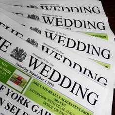 Wedding Invite Newspaper   Alternative Wedding Stationery Newspapers
