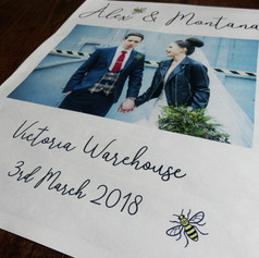 Wedding Thank You Newspaper | Alternative Wedding Stationery Newspapers