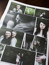 My Engagment Shoot Save the Date Newspaper - Alternative, Creative and Bespoke Wedding + Civil Ceremony stationery, Events and Marketing Newspapers