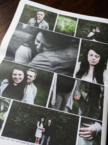 Engagement Photo Save the Date Newspaper
