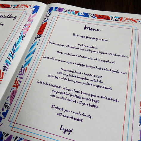 Bright colourful Jungle themed Wedding + Civil Partnership Order of Service Newspaper | Alternative Wedding Stationery Newspapers