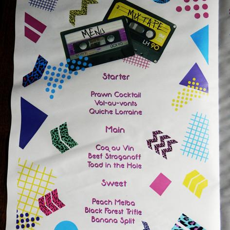 80s themed Wedding + Civil Partnership Order of Service Newspaper | Alternative Wedding Stationery Newspapers