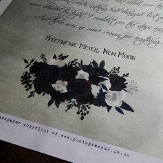 Gothic Wedding + Civil Partnership Stationery Newspaper | Alternative Wedding Stationery Newspapers