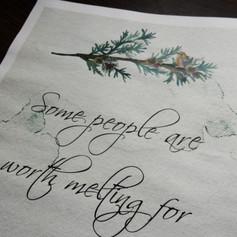 Christmas themed Wedding/Civil Partnership Newspaper   Alternative Wedding Stationery Newspapers