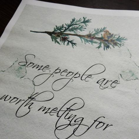 Christmas themed Wedding/Civil Partnership Newspaper | Alternative Wedding Stationery Newspapers