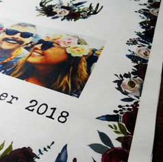 Boho themed Order of Service Newspaper | Alternative Wedding Stationery Newspapers