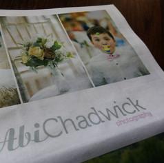 Abi Chadwick Photography Marketing Newspaper